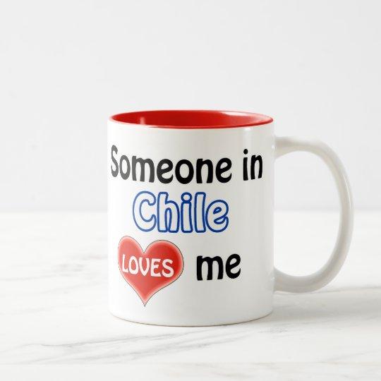 Someone in Chile loves me Tweekleurige Koffiemok
