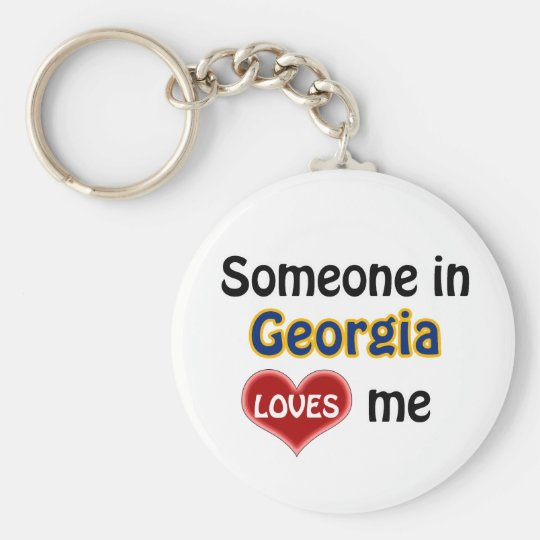Someone in Georgia (US State) Loves me Sleutelhanger