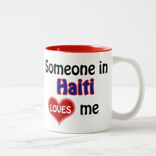 Someone in Haiti loves me Tweekleurige Koffiemok