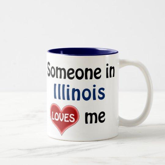 Someone in Illinois loves me Tweekleurige Koffiemok