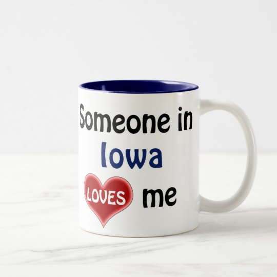 Someone in Iowa loves me Tweekleurige Koffiemok