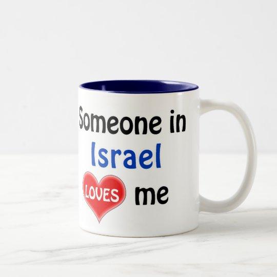 Someone in Israel loves me Tweekleurige Koffiemok