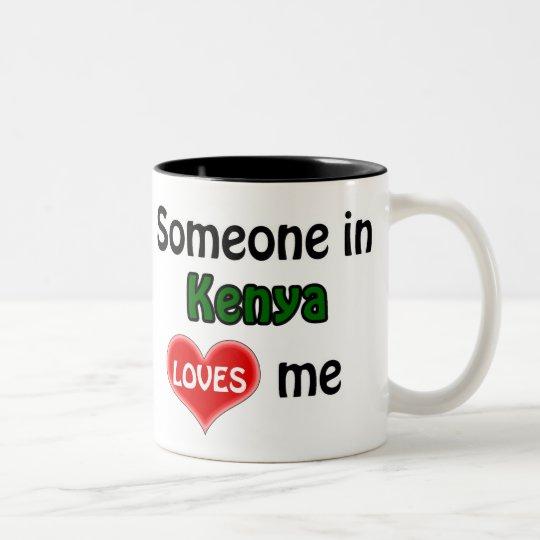 Someone in Kenya loves me Tweekleurige Koffiemok