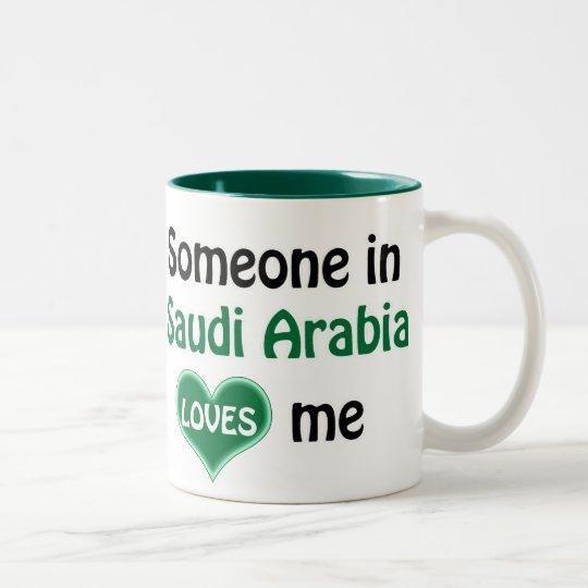 Someone in Saudi Arabia loves me Tweekleurige Koffiemok