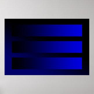 sommige blauwe gradiënten poster