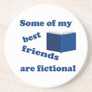 Sommige van mijn Beste Vrienden zijn Fictief Zandsteen Onderzetter