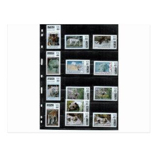 Sommige Zazzle douanezegels door dorinco Briefkaart