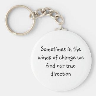 Soms in de winden van verandering vinden wij ons R Basic Ronde Button Sleutelhanger