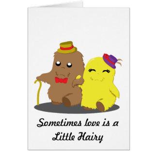 Soms is de Liefde een weinig Harig Briefkaarten 0