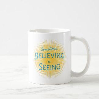 Soms ziet het Geloven Bericht van Geloof Koffiemok
