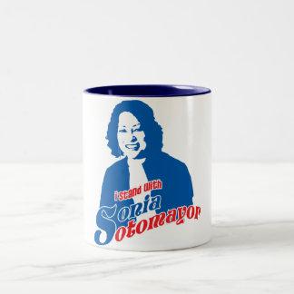 Sonia Sotomayor Mug Tweekleurige Koffiemok