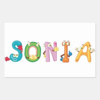 Sonia Sticker