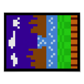 Sonic 1 Poster (Pixelated)