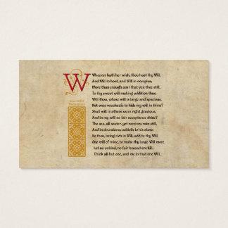 Sonnet 135 van Shakespeare (CXXXV) op Perkament