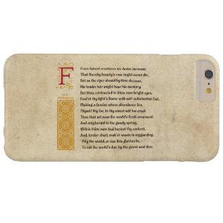 Sonnet 1 van Shakespeare op Perkament Barely There iPhone 6 Plus Hoesje