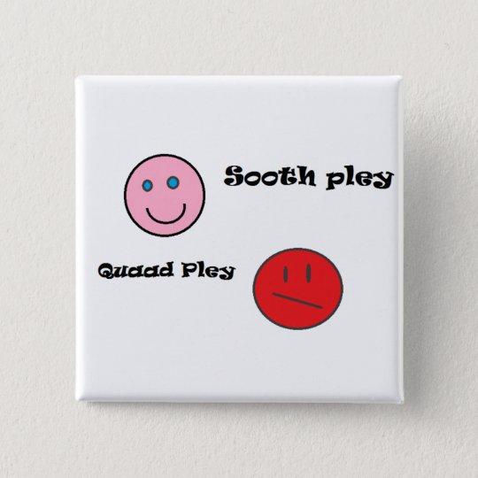 sooth pley quaad pley vierkante button 5,1 cm