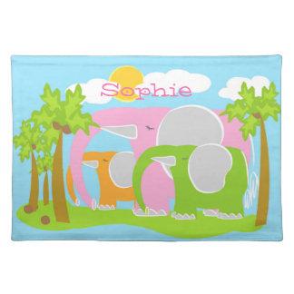 Sophie het Roze Katoen Placemat van de Olifant