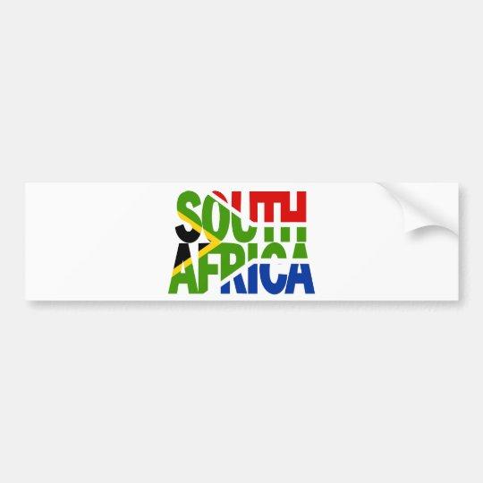 South Africa + flag Bumpersticker