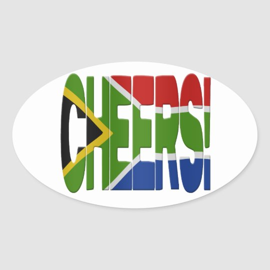 South African cheers Ovale Sticker