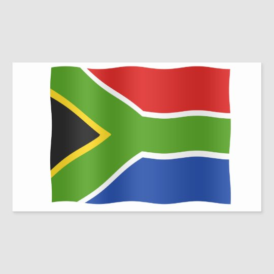 South African flag Rechthoekige Sticker