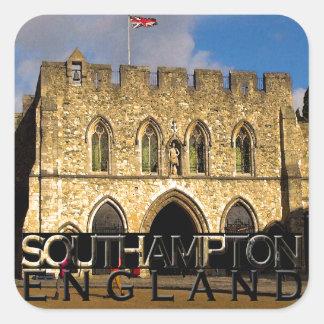 Southampton Vierkante Sticker
