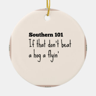 southern101-3 rond keramisch ornament