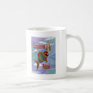 Spaans/Mexicaans/Latino Verjaardag van vissen Koffiemok