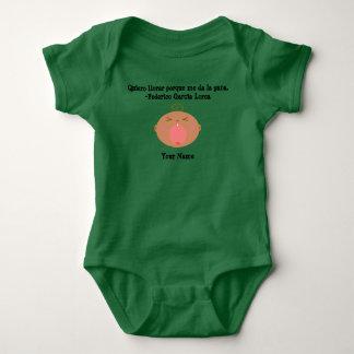 Spaanse Bodysuit van het Baby van de Taal Leuke