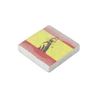 Spaanse glanzende vlag stenen magneet
