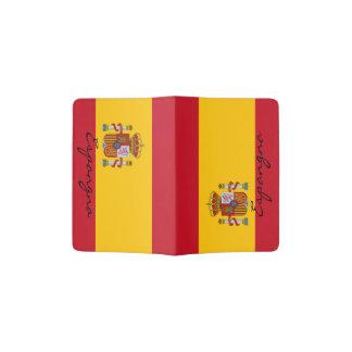 Spaanse houder   van het vlagpaspoort de trots van