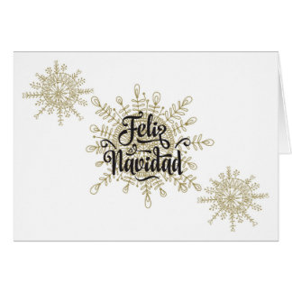 Spaanse Kerstmis van Navidad van Feliz Kaart