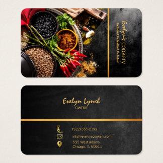 Spaanse peper en van het kruidenrestaurant visitekaartjes