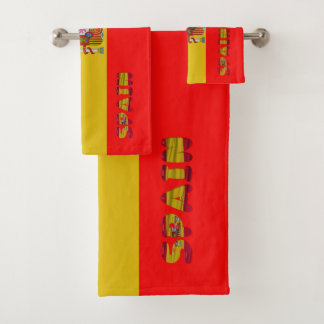 Spaanse vlag bad handdoek