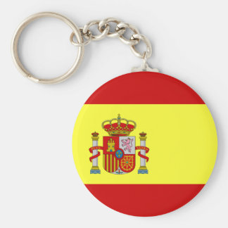 Spaanse Vlag Basic Ronde Button Sleutelhanger
