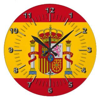 Spaanse vlag grote klok