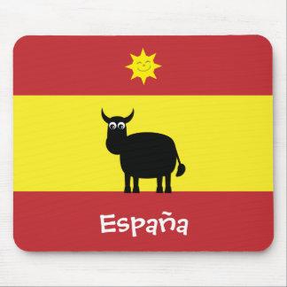 Spaanse Vlag met de Leuke Zon van de Stier & het Muismatten