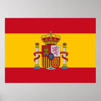 Spaanse vlag poster