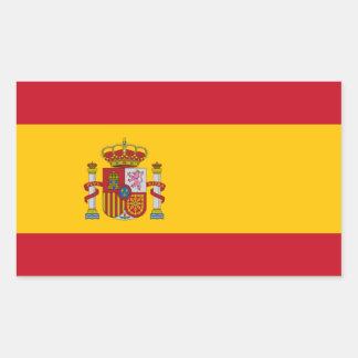 Spaanse Vlag Rechthoekige Sticker