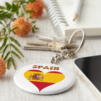 Spaanse vlag sleutelhanger