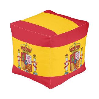Spaanse vlag vierkant zitkussen