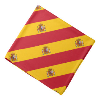 Spaanse vlagbandana | het landkleuren van Spanje Bandana
