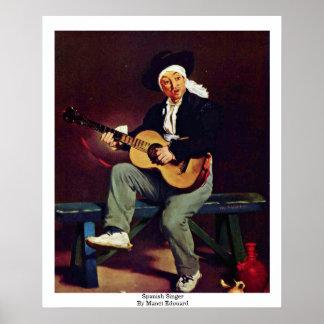 Spaanse Zanger door Manet Edouard Poster