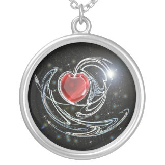 spaceheart ketting rond hangertje