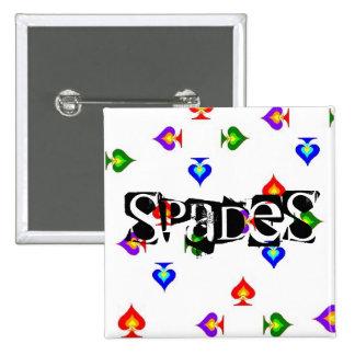 Spade Vierkante Button 5,1 Cm