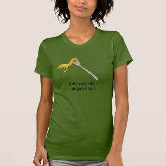 Spaghetti op Vork: Klantgerichte Slogan T Shirt