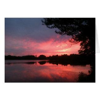 spamset: roze september zonsondergang kaart