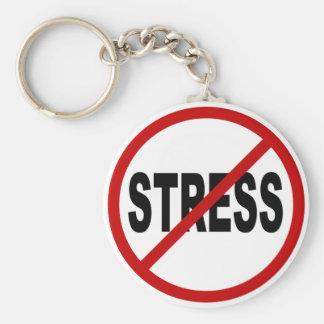 Spanning van de haat Stress/No stond Teken toe Sleutelhanger