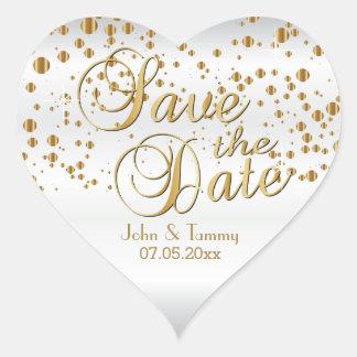 Sparen Datum | het Elegante Gouden Stip van Hart Sticker