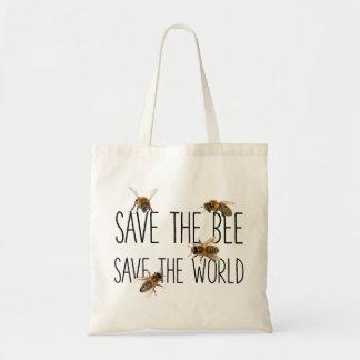 Sparen de Bij! Sparen de Wereld! Leef Ontwerp Budget Draagtas