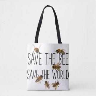 Sparen de Bij! Sparen de Wereld! Leef Ontwerp Draagtas